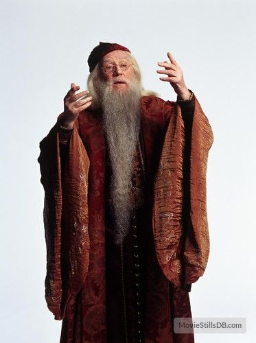 Harry Potter And The Chamber Of Secrets Promo Shot Of Richard Harris Dumbledore Costume Harry Potter Cast Rowling Harry Potter