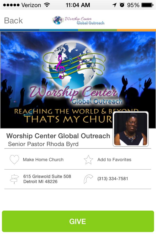 Worship Center Global Outreach in Detroit, Michigan