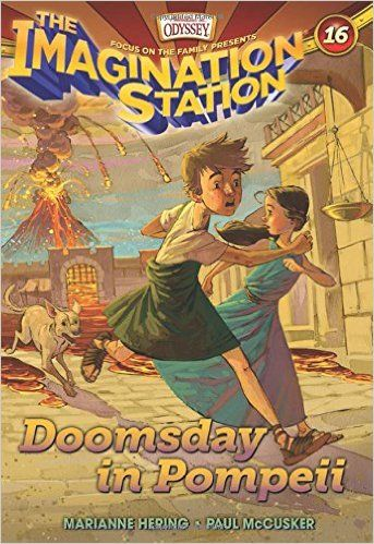 Doomsday in Pompeii  ( Imagination Station Books) . Biblically and historically based book of two kids who travel back in time to different eras.  Great for introducing chapter books for read alouds. Ages 7+