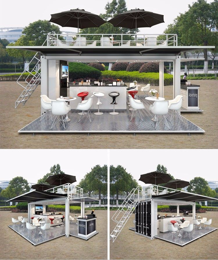 Mobile Pop Up Coffee Shop Container Design 20ft