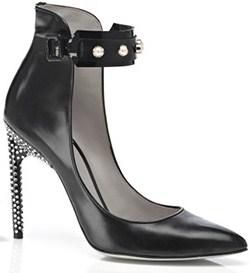 Black Leather Jason Wu Ankle-Cuff Pump