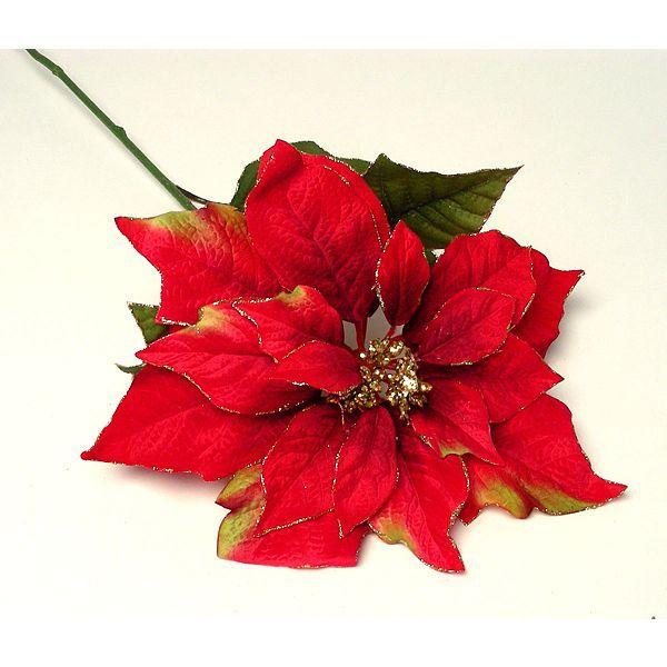 33in Raspberry Velvet Poinsettia Christmas Silk Decorations Poinsettia Christmas Tree Ornaments Beautiful Christmas Trees