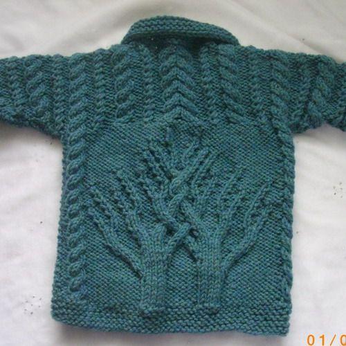 Macdara Aran Coat Pdf Knitting Pattern For Baby Or Toddler