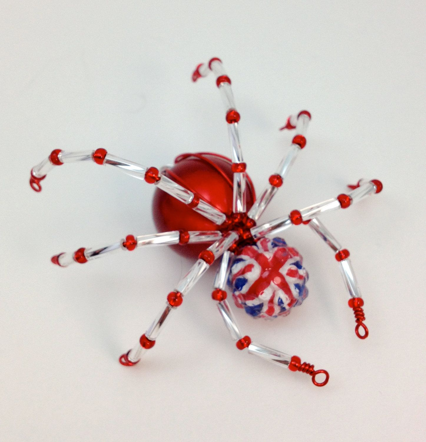 Red, White & Blue Spider Pendant - Union Flag - UK Patriotic. £4.50 ...