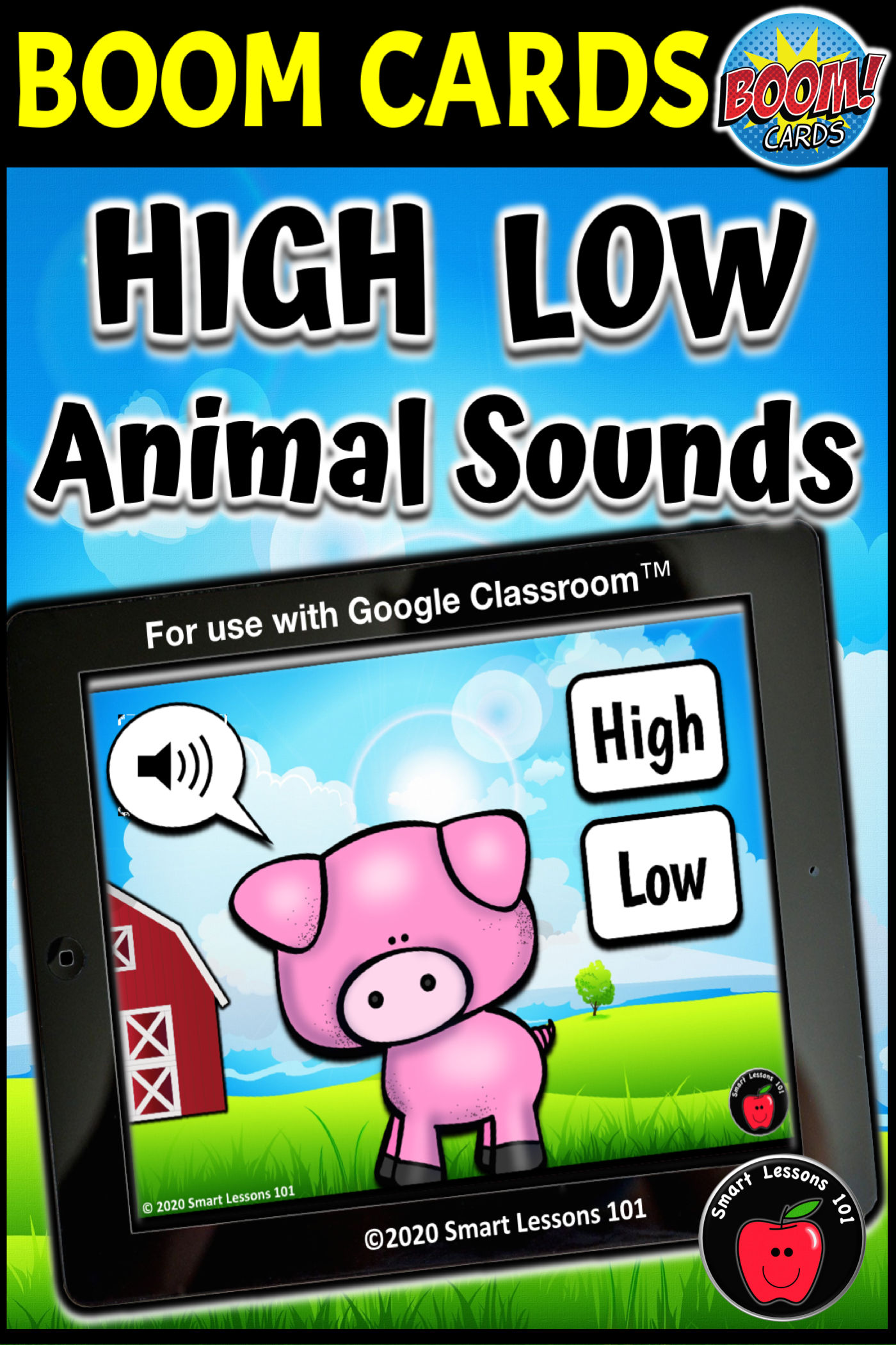 High And Low Animal Sound Boom Cards Music