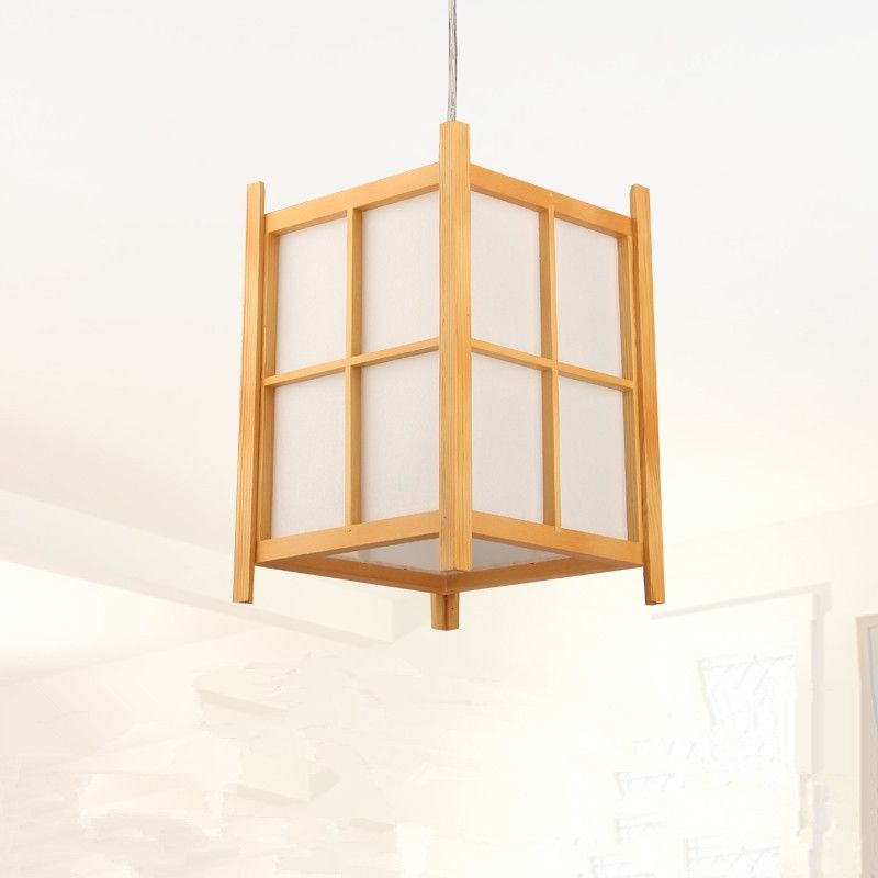 Modern Japanese Pendant Lamp Washitsu Tatami Decor Wooden For Restaurant Living Room Hallway Japan Lighting