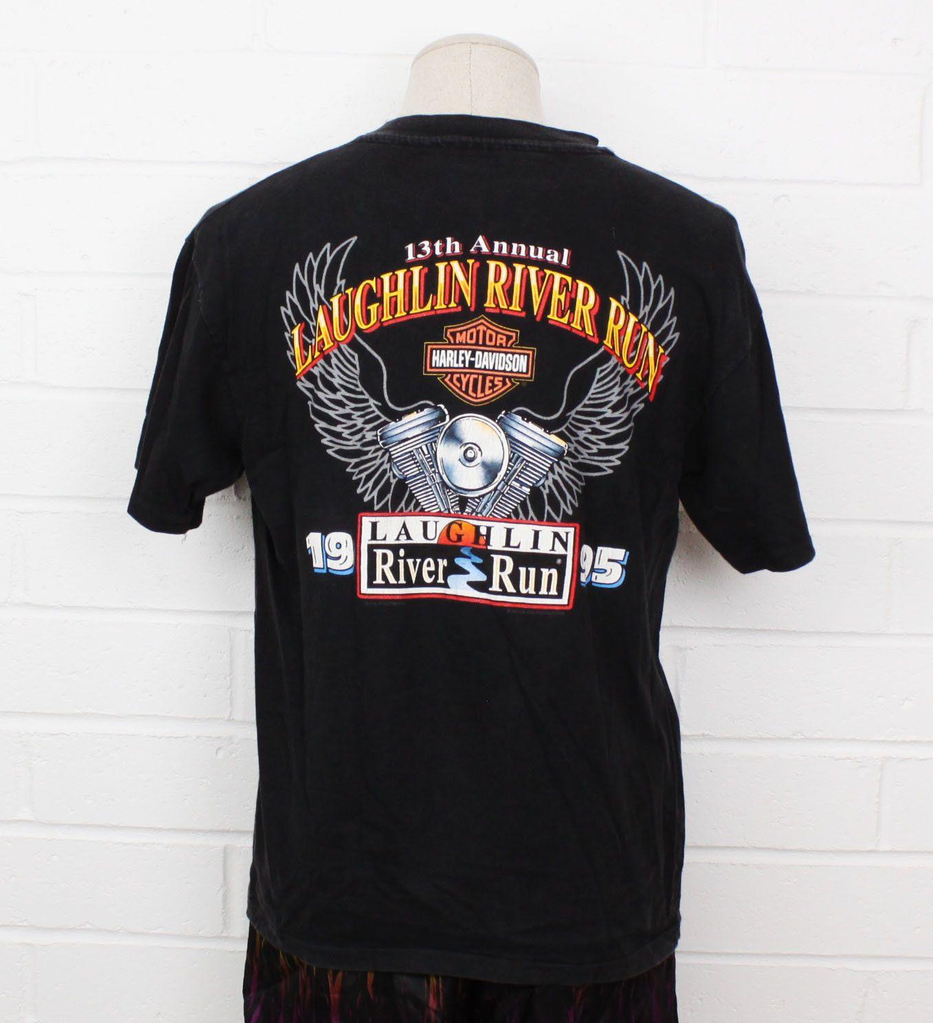 Vintage 1990 Harley Davidson T Shirt 3D Emblem Eagle Cut Off Tee Unisex Large