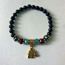 #elephant #gold #beads #crystals
