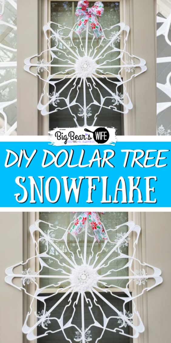 How to make a Dollar Tree Snowflake Clothes Hanger Craft