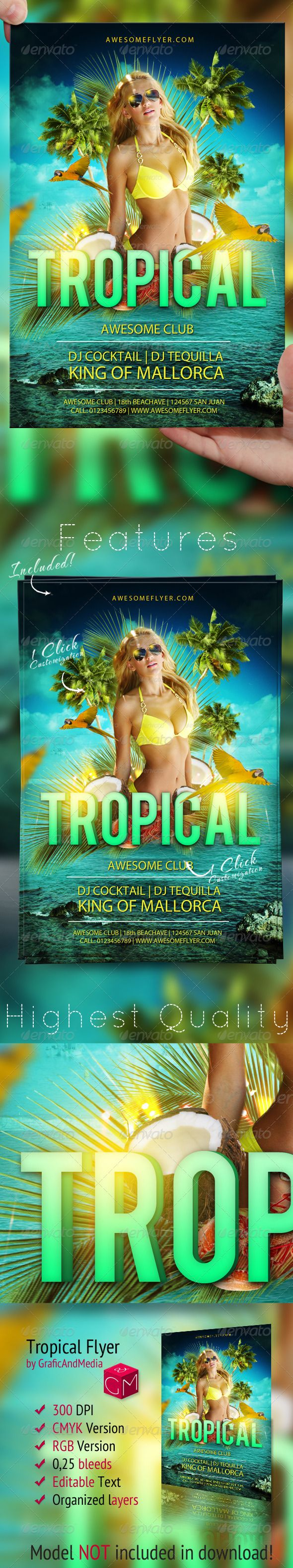 tropical flyer template events flyers download here https