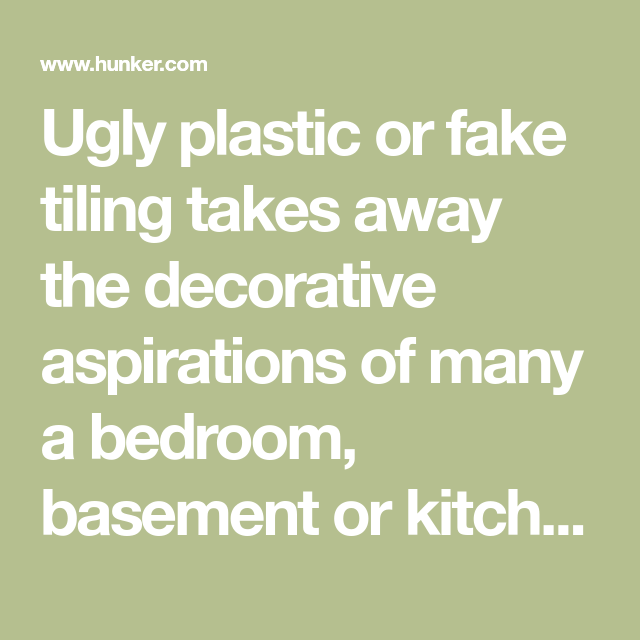 How To Paint Fake Tile Paneling