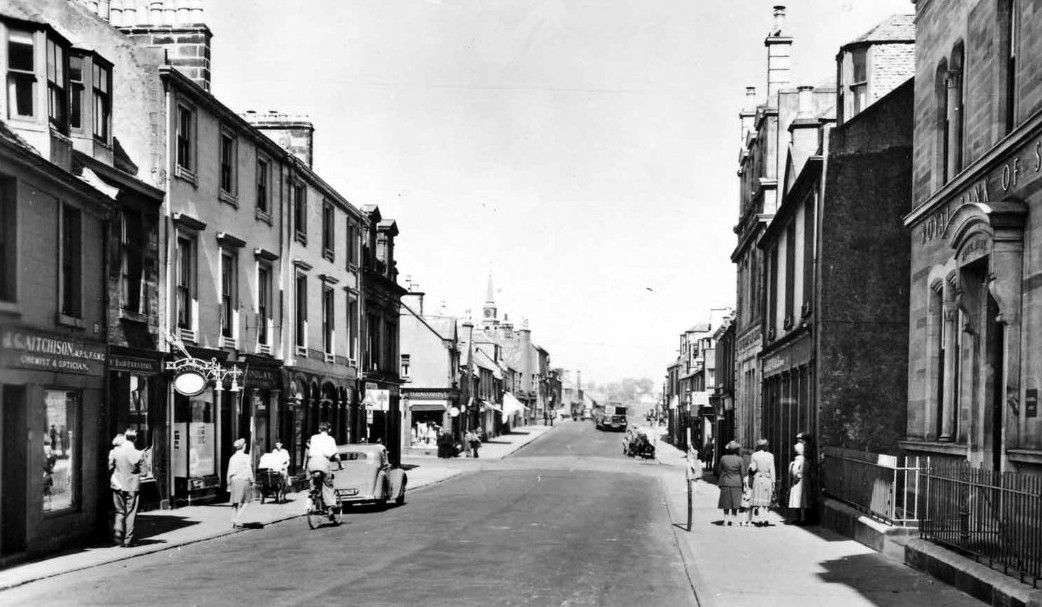 Old photograph of Stewarton, Ayrshire, Scotland