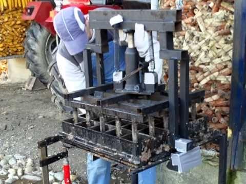 Homemade briquette press