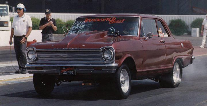 My sons first race car, 63 Nova small block chevy ran in the 9s.