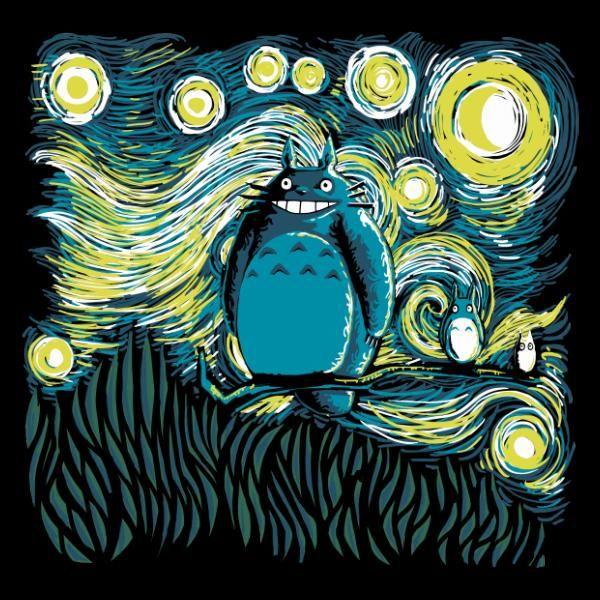 """""""Ghibli x Van Gogh #FanArtGhibli"""""""