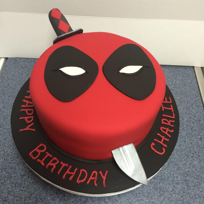 Fondant Deadpool Cake With Images Deadpool Cake Cupcake Cakes