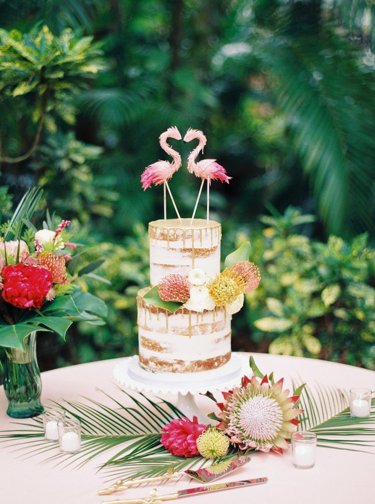 Tropical Pink, Green and Gold Destination St. Pete Wedding