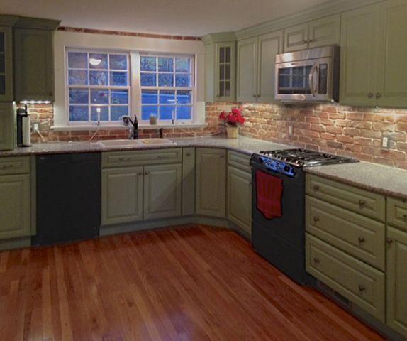 Merveilleux Reclaimed Thin Brick Veneer   Brick Backsplash, Interior Brick Veneer