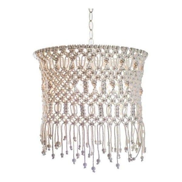 Pb teen macrame chandelier ivory 169 liked on polyvore pb teen macrame chandelier ivory 169 liked on polyvore featuring home cream chandelierswhite chandelierchandelier lightingblack mozeypictures Images