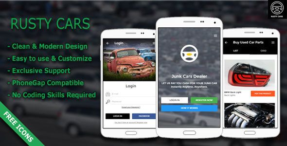 Rusty Cars | Search Junk Cars & Used Parts - Responsive Mobile ...