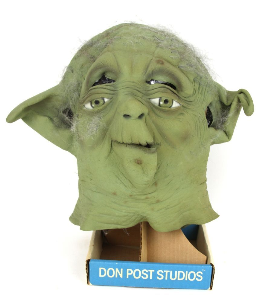Vintage 1996 Collectible Star Wars Yoda Mask Don Post Studios With Stand #DonPostStudios