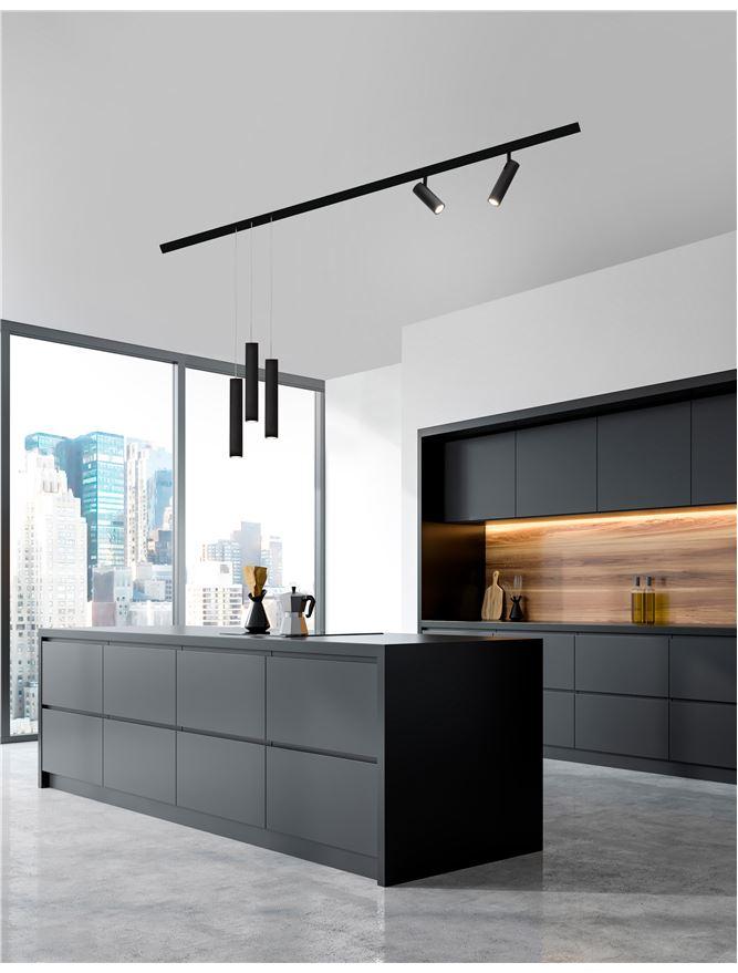 Nova Luce | MAGNETIC PROFILE - JAZZ - Sandy Black Aluminium