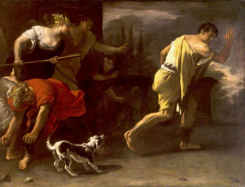 The Athenaeum - The Parable of the Prodigal Son: Driven out by His Former Companions (Luca Giordano - )