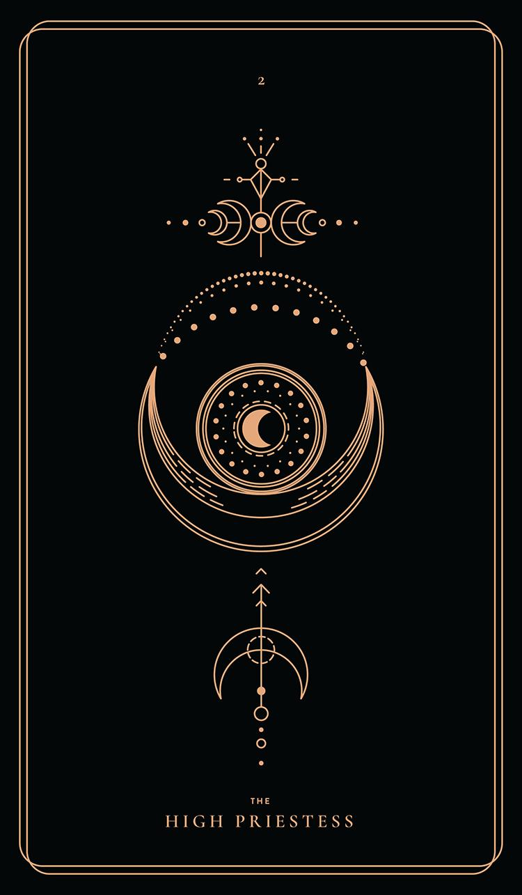 Tarot Cards High Priestess Major Arcana Deck Dictionary Art Print Book Decor
