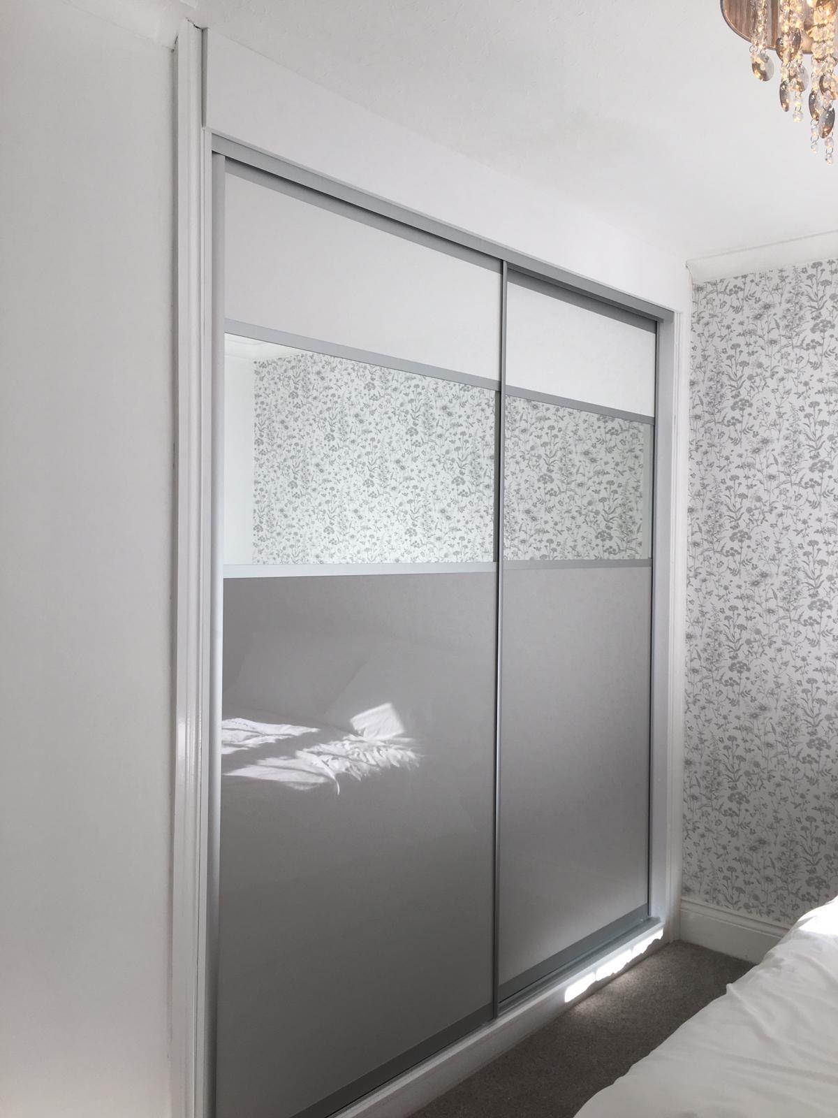 White And Grey Sliding Wardrobes Grey And White Wallpaper Sliding Wardrobe Furniture