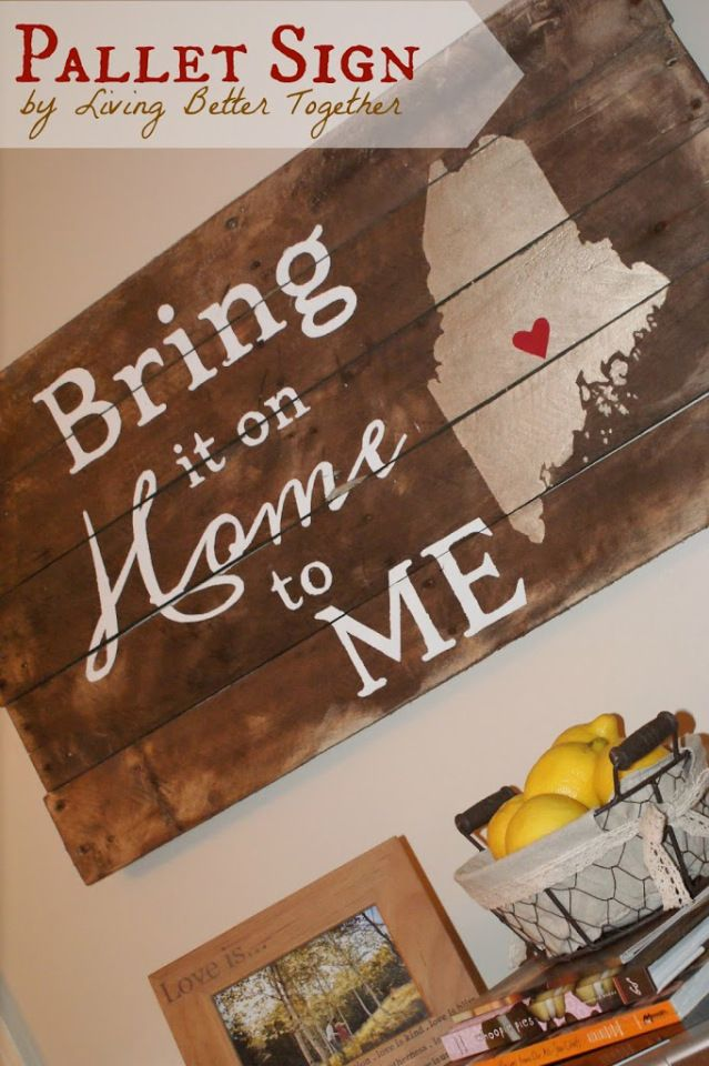 Home to ME Pallet Sign | Living Better Together