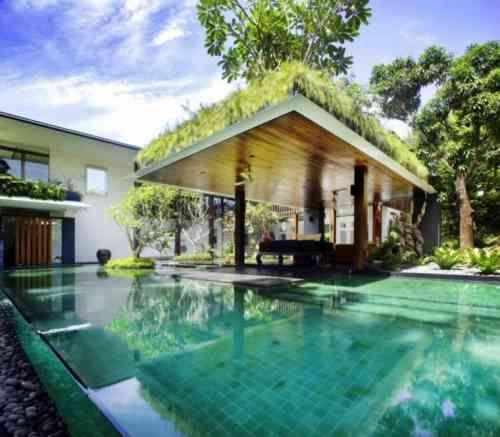 The Sun House By Guz Architects A Hevean Of Green In: Gazébo Et Abri Soleil : Des Idées Pour Jardin Avec Piscine