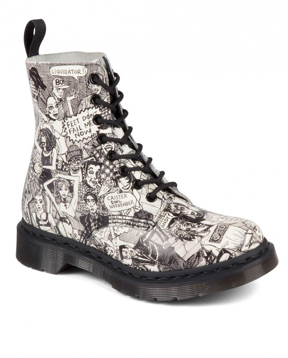 68cafe80e0 Bota Mujer Dr. Martens.Cuero Estampadas | these boots were made 4 ...