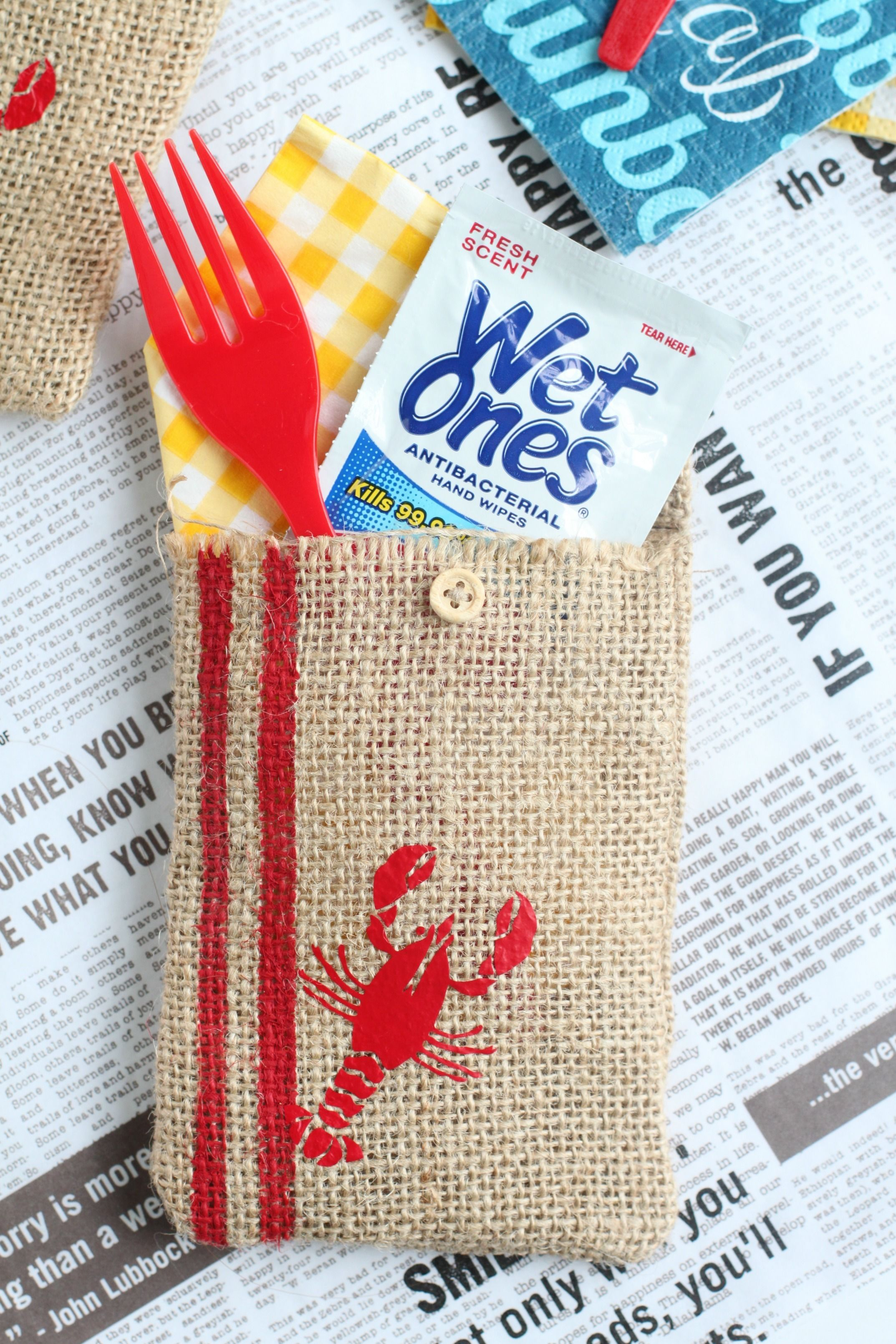 DIY Burlap Utensil Holder | Seafood boil party, Family meals and Meals