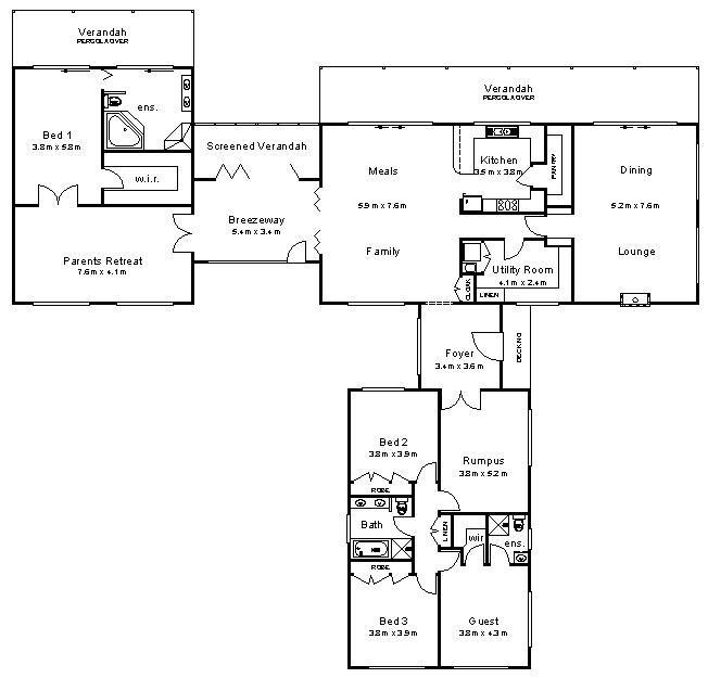 Australian House Plans 1 Jpg 652 625 Pixels Australian House Plans L Shaped House Plans Architectural House Plans