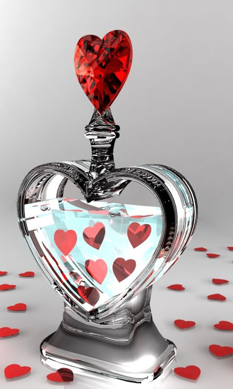 Hd love potion mobile phone wallpapers I Heart Hearts