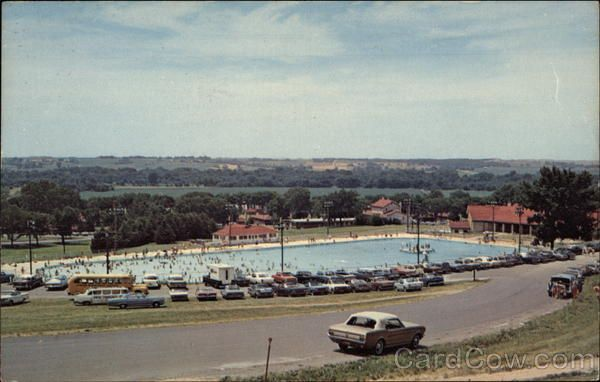 It 39 S Gone Now The Old Camp Dodge Swimming Pool It Was Supposed To Be The Largest Outdoor