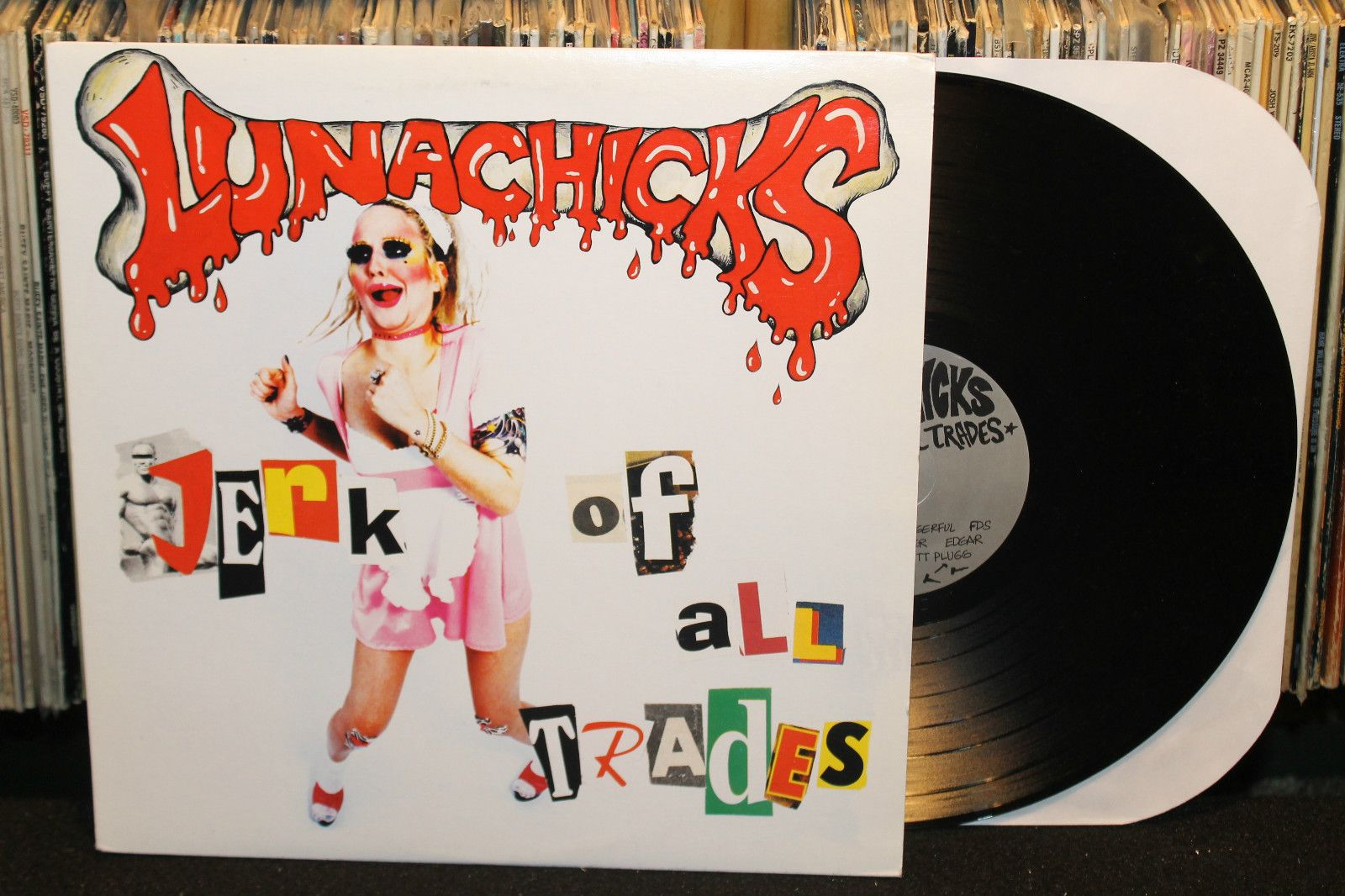 "Lunachicks ""Jerk of All Trades"" LP 1995 (Bantam, Theo and Skyscrapers, Punk Vinyl)"