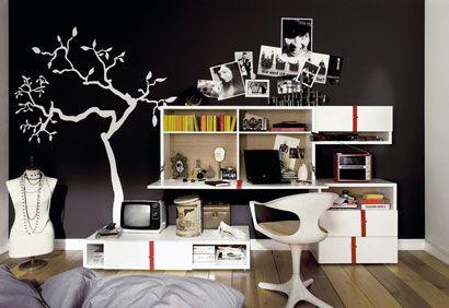 1000 images about chambre ado noire on pinterest - Chambre Vintage Ado Fille