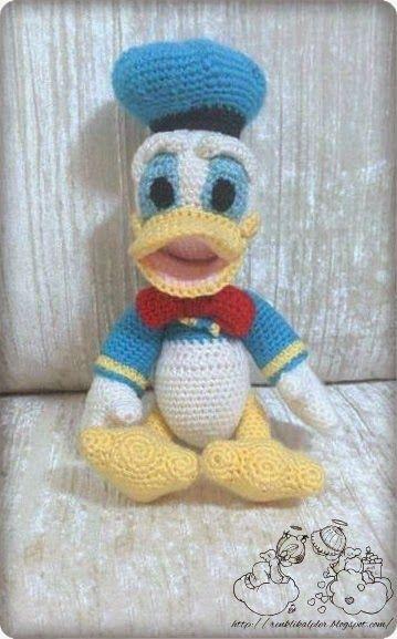 Crochet D Duck Canard Eentje Donald Duck Tricots Et