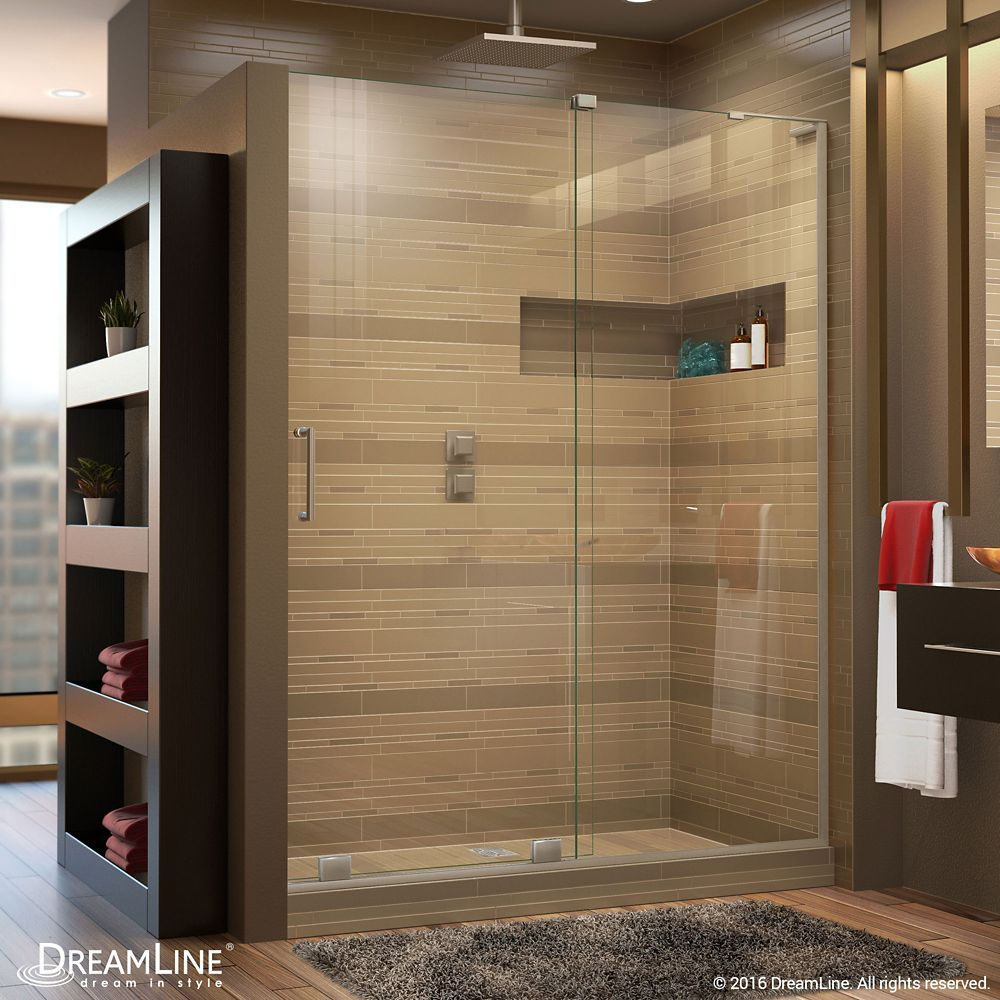Mirage X 48 Inch X 72 Inch Frameless Rectangular Sliding Shower Door