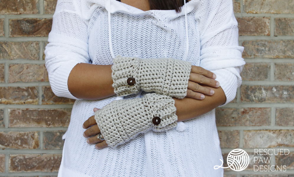 Simple Crochet Hand Warmer Pattern | Guantes y Capilla