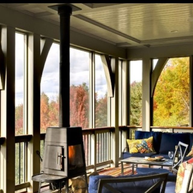 porchwoodstove  Plans  Screened porch designs Porch