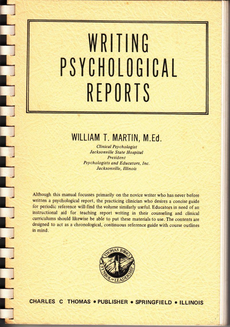 Writing Psychological Reports (With images) School