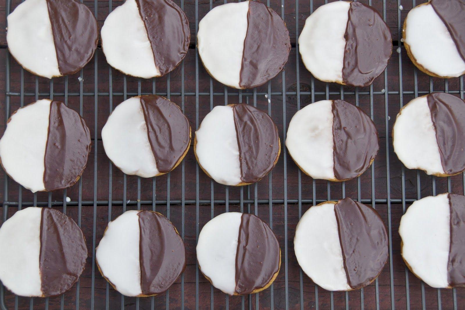 pumpkin black and white cookies