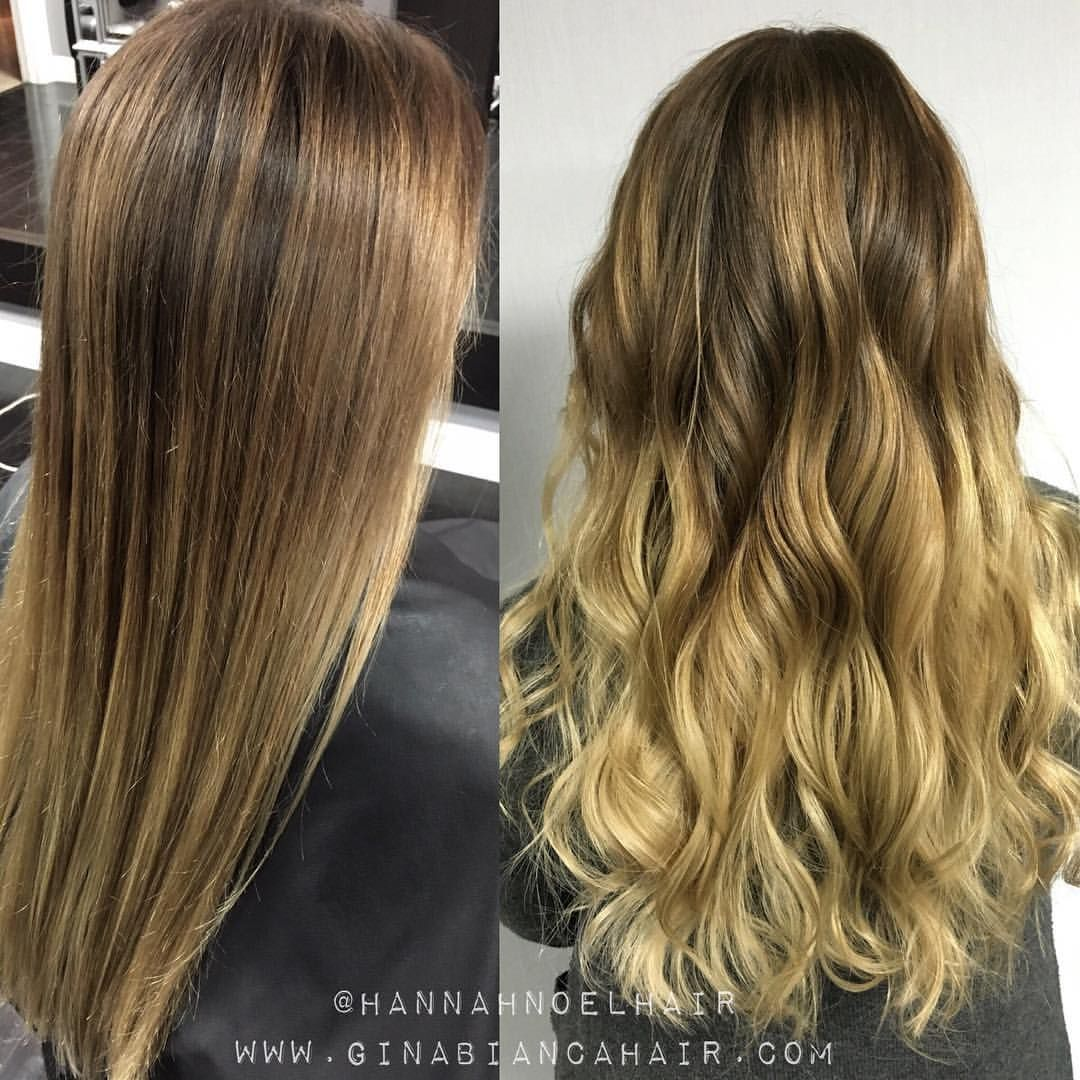 Hannah On Instagram Straight Or Curled Balayage And Hand Painted
