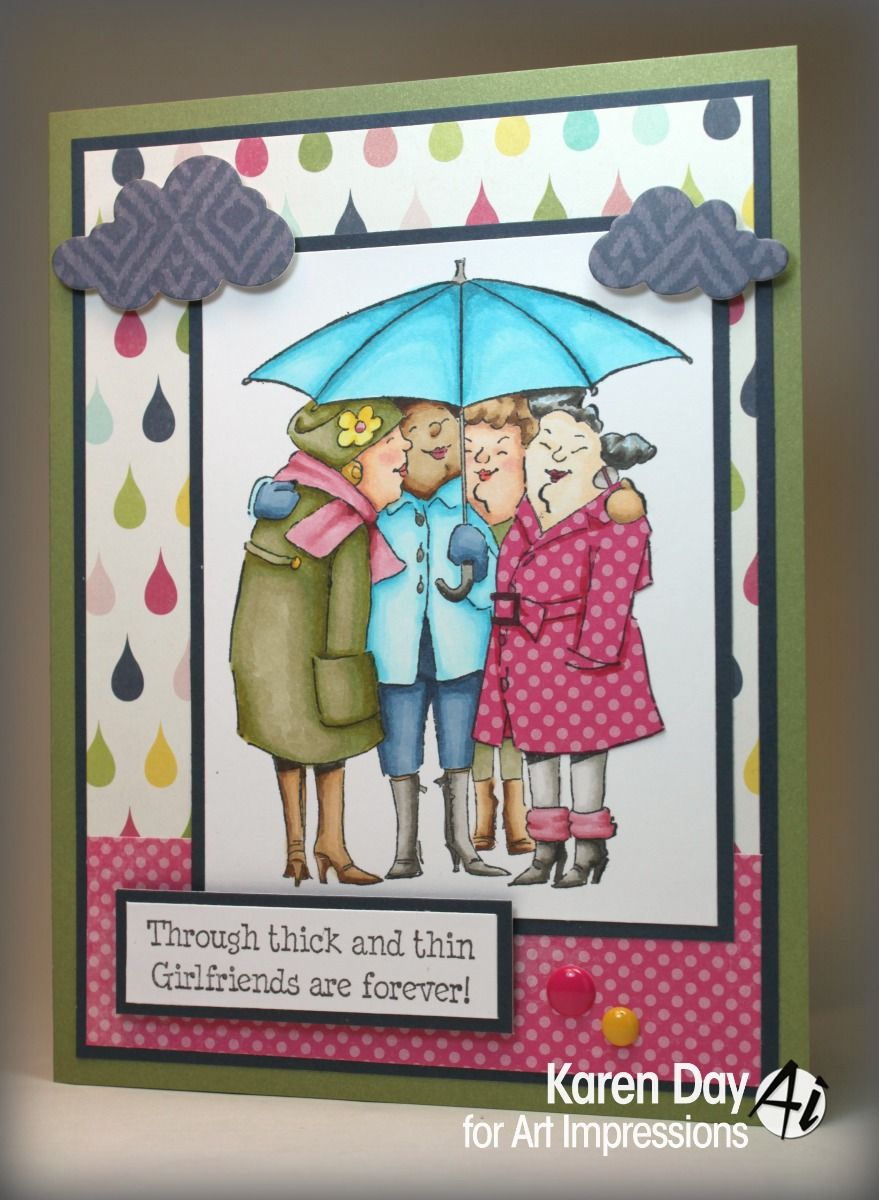 Art impressions blog under my umbrella by karen day cards and