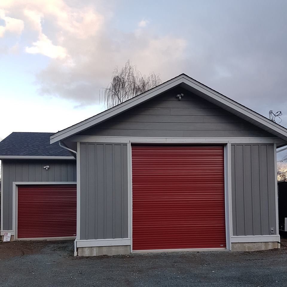 Rollupdoor Smartgarage Storagedoor Garagedoor Red Garage Door Garage Door Security Roll Up Doors