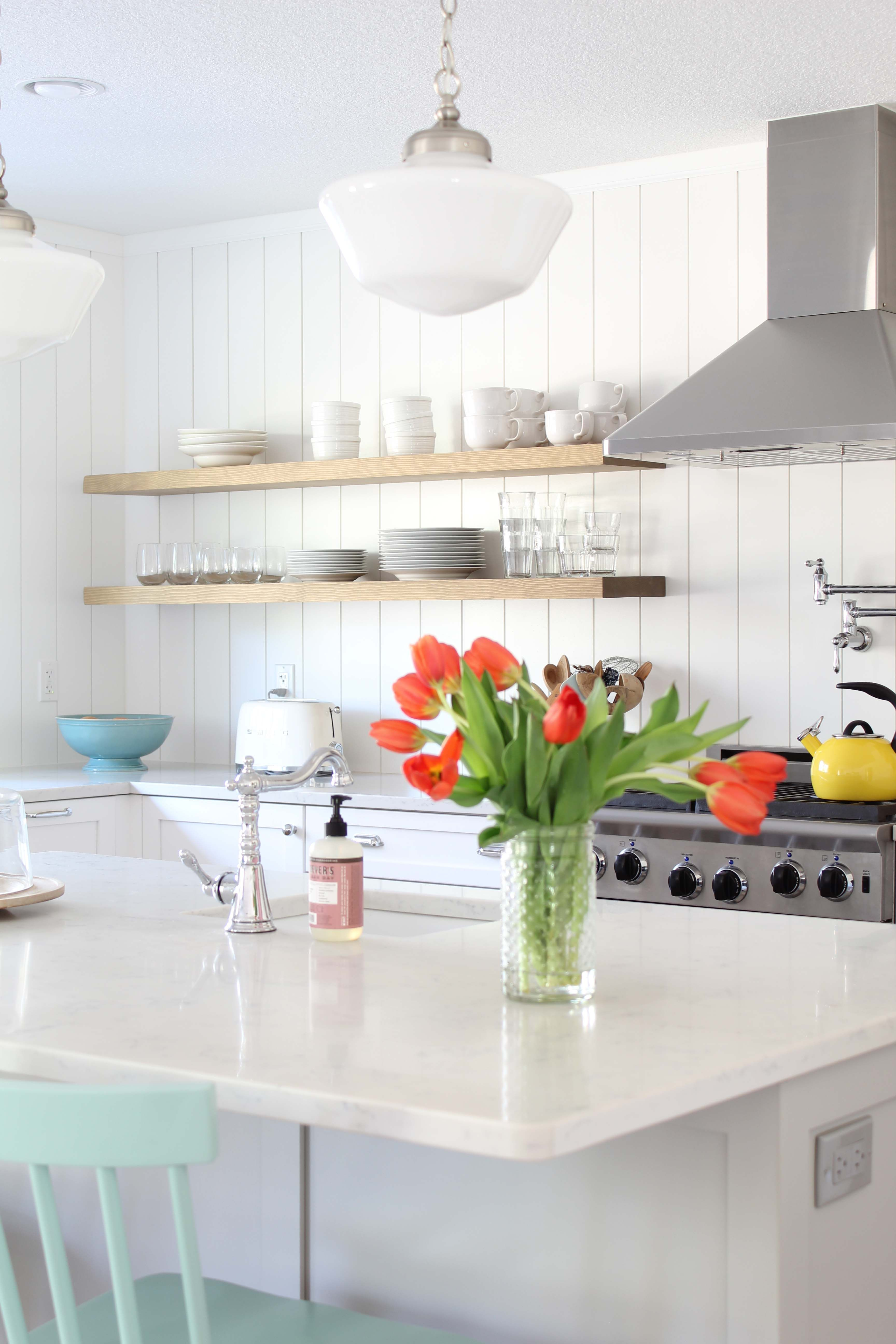 Scandinavian Farmhouse Kitchen Reveal A Nod To Navy Kitchen Remodel Cost Scandinavian Kitchen Shiplap Kitchen