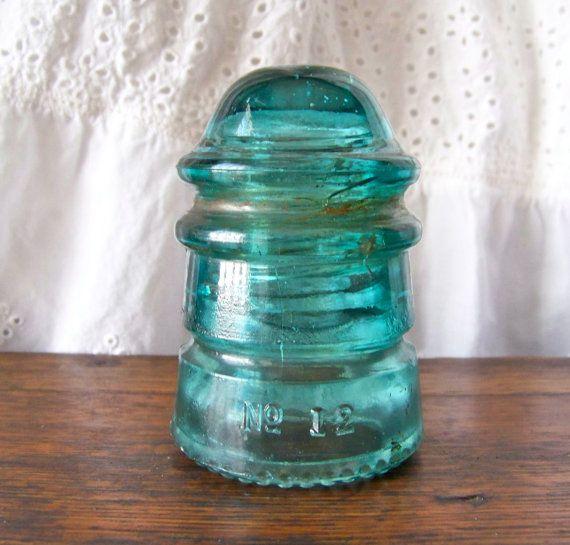 Vintage Green Insulator Hemingray No 12 Etsy Vintage Green Glass Glass Insulators Vintage Green