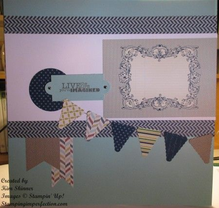 Stamping and Scrapbooking Sunday Series:  Pennants with Stamping Imperfection